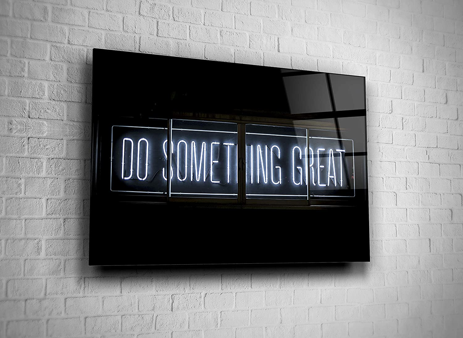 Genericc Do Something Great Neon Sign Tempered Glass Wall Art Present Home Decor Bar Decor Office Decor Hotel Decor Modern Art Decor Gift (16x24)