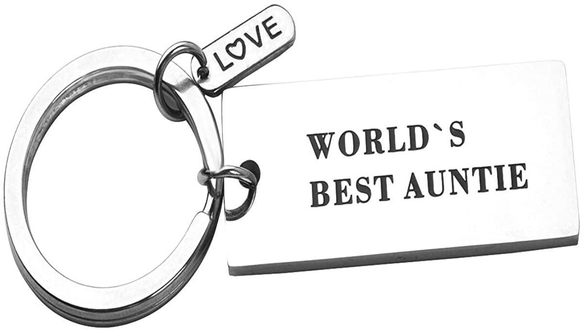REEBOOOR Aunt Bracelet Aunt Jewelry Rose Gold Best Aunt Ever Bracelet for Aunt …