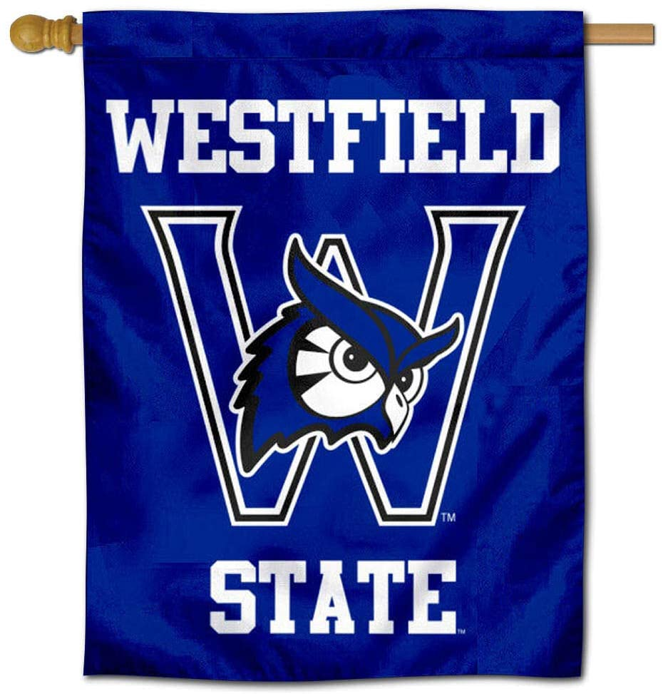 College Flags & Banners Co. Westfield State Owls Double Sided House Flag