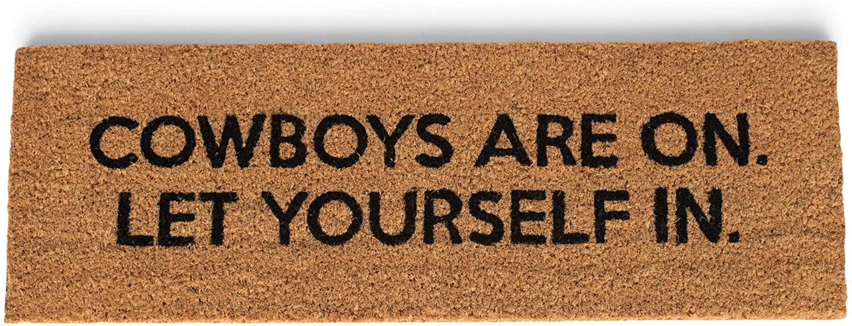 47th & Main Coir Door Mat, 30 x 10-inches, Cowboys