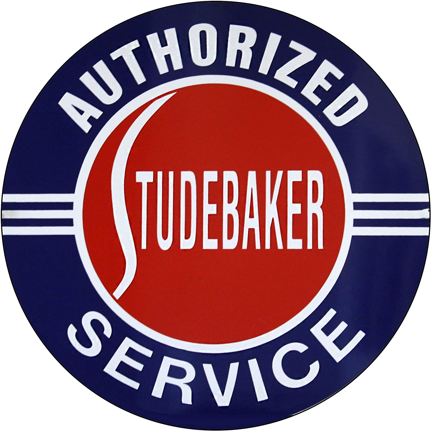 Vintage Gas Sign Reproduction Vintage Metal Signs Round Metal Tin Sign for Garage and Home 8 Inch Diameter – Authorized Studebaker Service