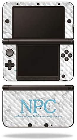 MightySkins Carbon Fiber Skin for Nintendo 3DS XL Original (2012-2014) - National Panhellenic Conf Classy Marble | Protective, Durable Textured Carbon Fiber Finish | Easy to Apply | Made in The USA