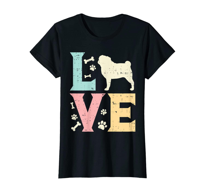 Love Pug Cute Animal Pet Dog Lover Owner Women Girls Gift T-Shirt