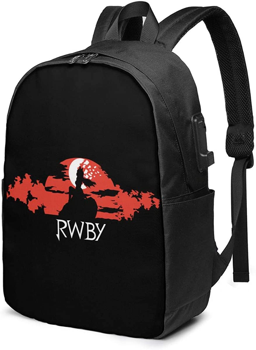 EARYLER Rwby Laptop Usb Backpack Casual Travel Outdoor Rucksack College School Bag