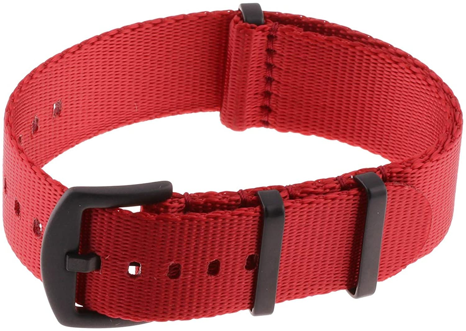 StrapsCo Premium Nylon Seat Belt Wrap Around Watch Band Strap 18mm 20mm 22mm 24mm
