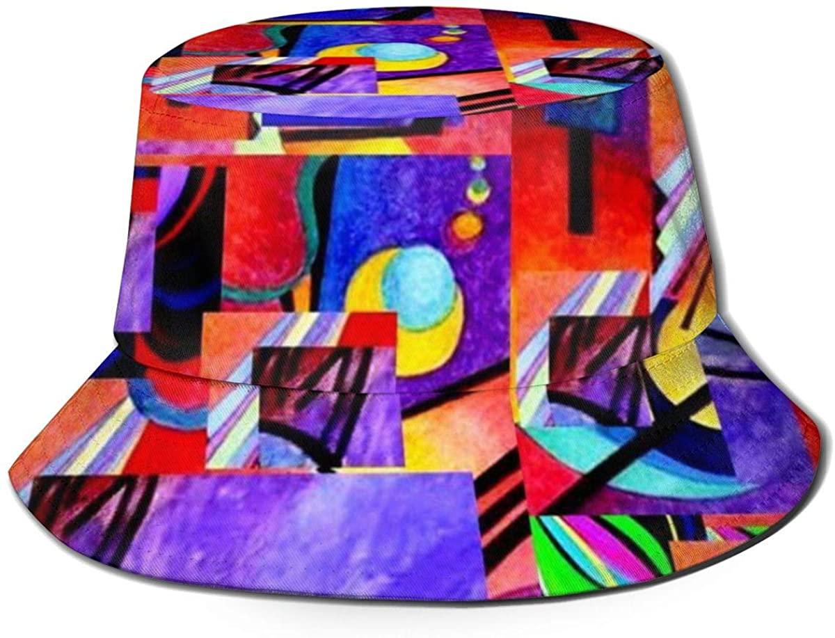 XUJ YOGA Women Men Wide Brim Foldable Packable Bucket Hat Breathable Fisherman Hat