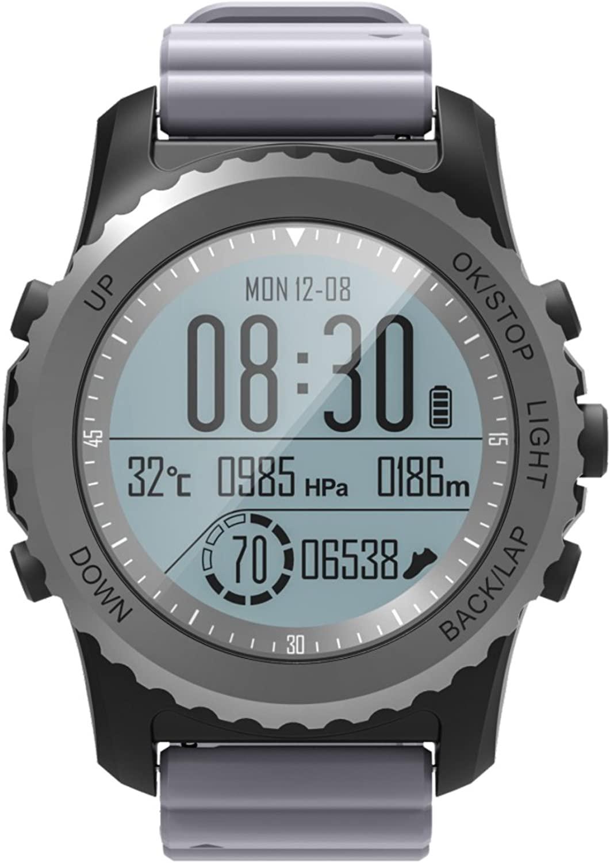 GPS Fitness Tracker Altimeter Barometer Heart Rate Monitor Swimming Waterproof Bluetooth Smart Watch