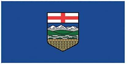 EW Designs Alberta Flag Sticker Decal Vinyl Canada bc Province Bumper Sticker Vinyl Sticker Car Truck Decal 5