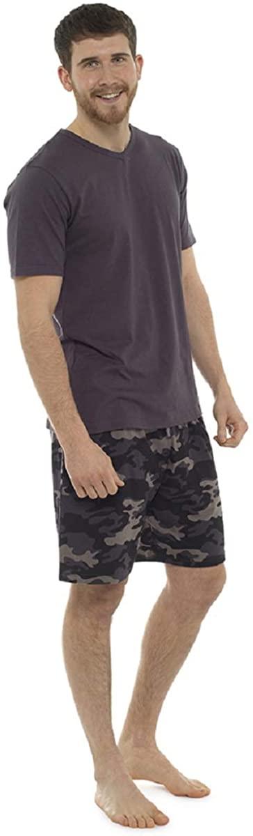 Mens Camo Shorts Pajama/Lounge Set