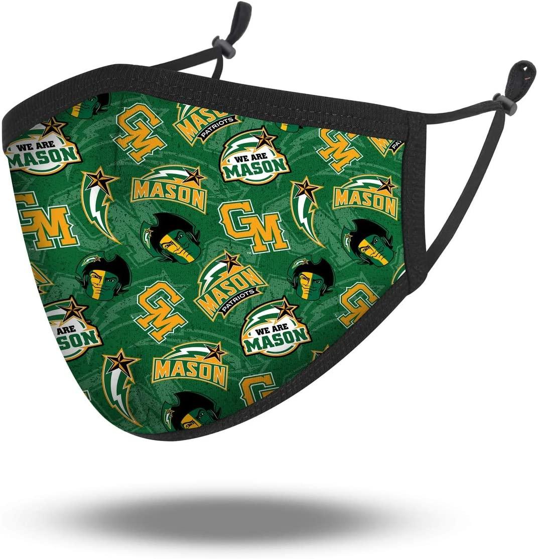 NCAA George Mason Patriots, 100% Cotton, Double Layer, Washable & Reusable, Non-Medical Face Mask