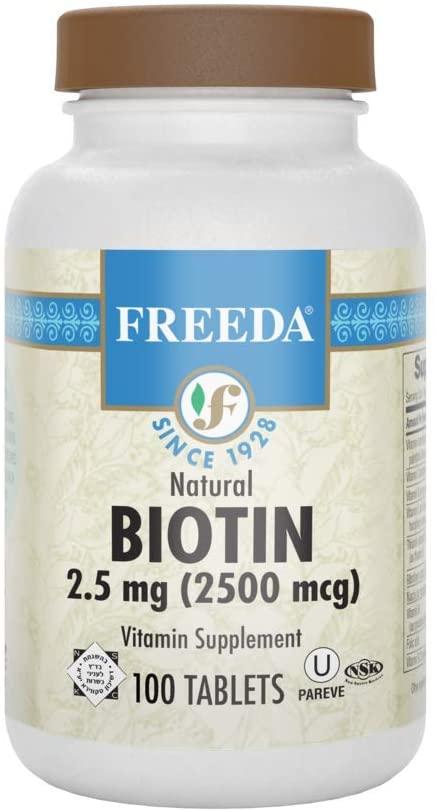 Freeda Vitamins Biotin 2.5mg 100 Tabs