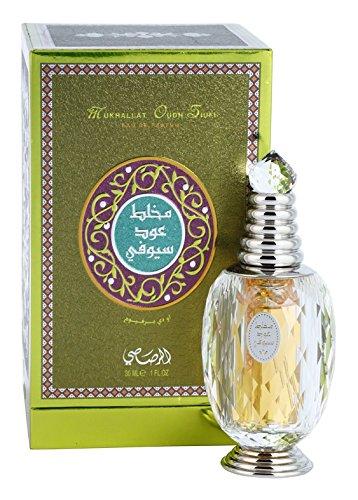 Mukhallat Oudh Siufi EDP - Eau De Parfum 30 ML (1.0 oz) I Oriental Alchemy I Agarwood, Sandalwood & Musk I Elegant Bottle I By RASASI Perfumes