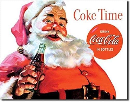 SRongmao Coca Cola Coke Santa Classic Advertising Vintage Look Retro Style Metal Tin Sign 8x12in New
