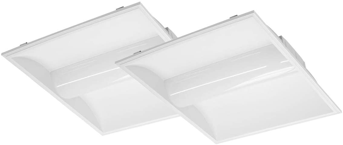 ASD 2x2 LED Troffer Panel Light 28W 4000K (Bright Light) - Dimmable Drop Ceiling Light Fixture 120-277V 3631Lm - Indoor Commercial UL Listed DLC Certified - 2 Pack