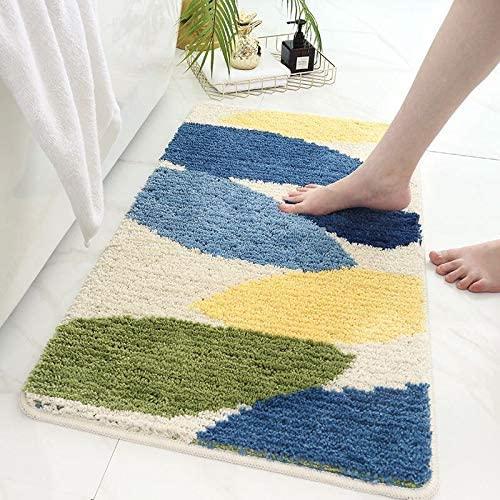 Ankah Bathroom Rugs Bath Mat, Luxury Soft Shaggy Microfiber Shower Rug, Absorbent & Slip Resistant Plush Carpets, Hotel Spa Shower & Bathtub Mats | Machine Washable | 18