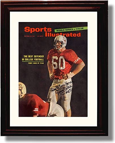 Framed Texas Longhorns Tommy Nobis Best Defender in Football Sports Illustrated Autograph Replica Print