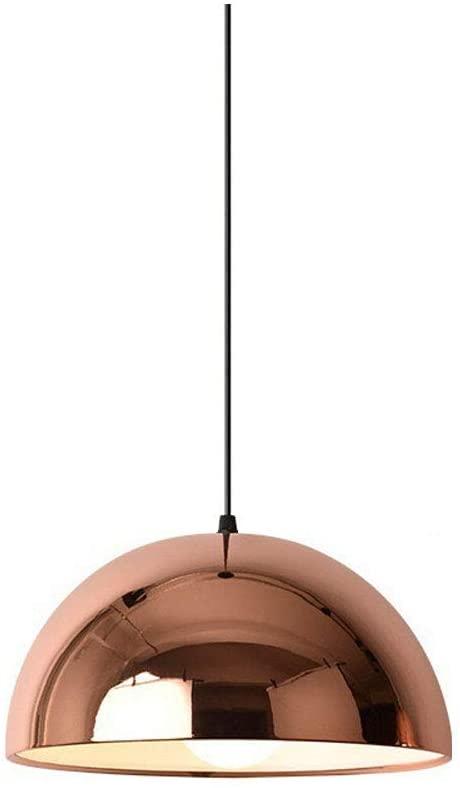 SkyTalent Modern Pendant Lighting Adjustable Mirror Pendant Lamp with Rose Gold Iron Shade Nordic Style Chandelier Decorative Pendant Light (Style E)