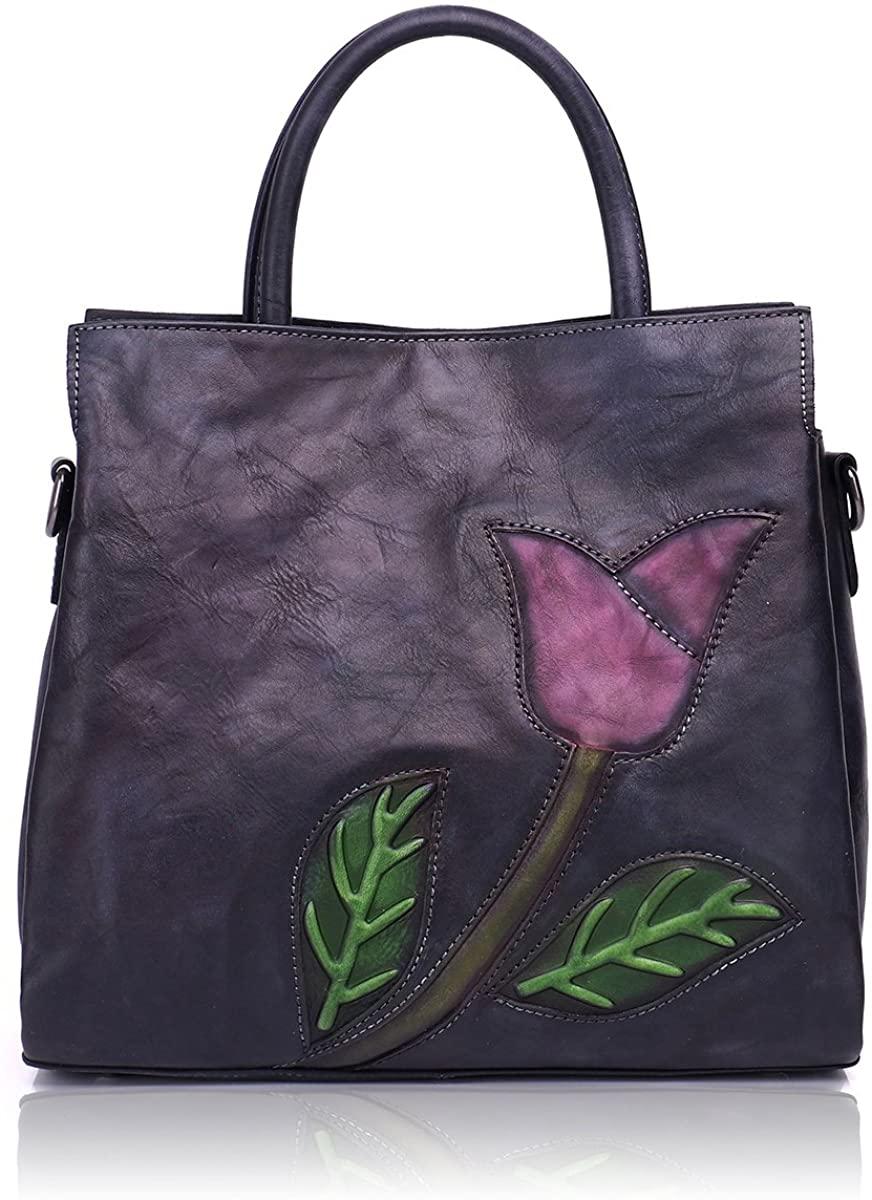 APHISON Designer Soft Leather Totes Handbags for Women Ladies Satchels Shoulder Bags 8171