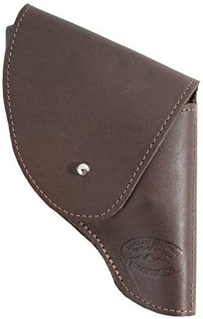 Barsony New Brown Leather Flap Holster for Snub Nose 2