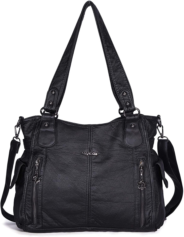 Handbags for Womens Top-Handle Hobo Purse Roomy Casual Shoulder Bag Fashion PU Tote Satchel Purse for Womens …