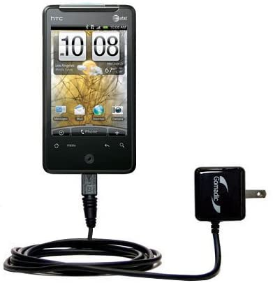 Gomadic High Output Home Wall AC Charger Designed for The HTC Aria with Power Sleep TipExchange