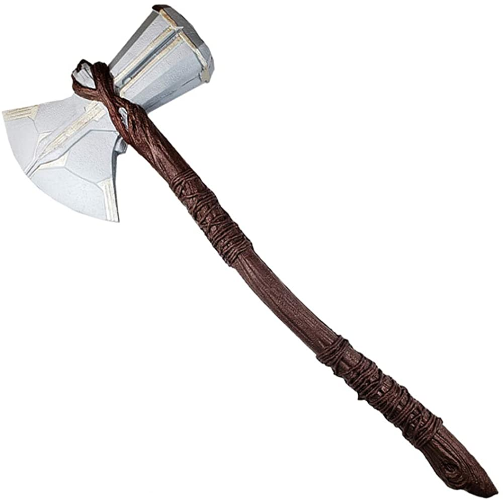 Avenger Assemble: Thor Stormbreaker Axe in Foam Props Replica for Cosplay Marvel Hero, Collcetion, Gifts Brown