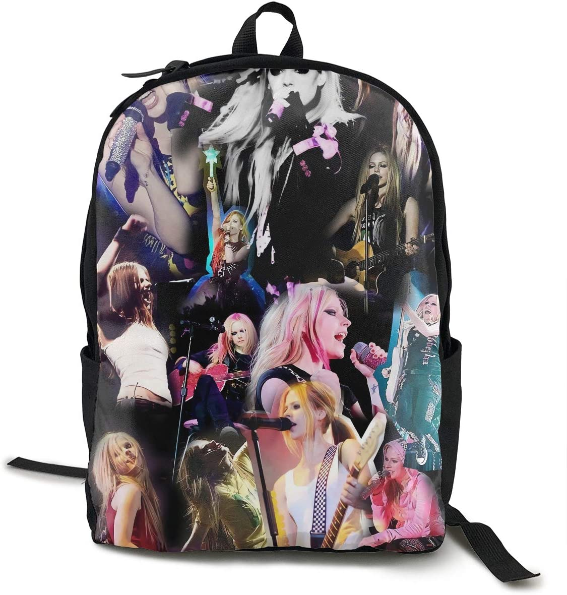 RodneyLRobbins Avril Lavigne College Backpack Big Student Bookbag Multipurpose Daypacks Modern Stylish Backpack