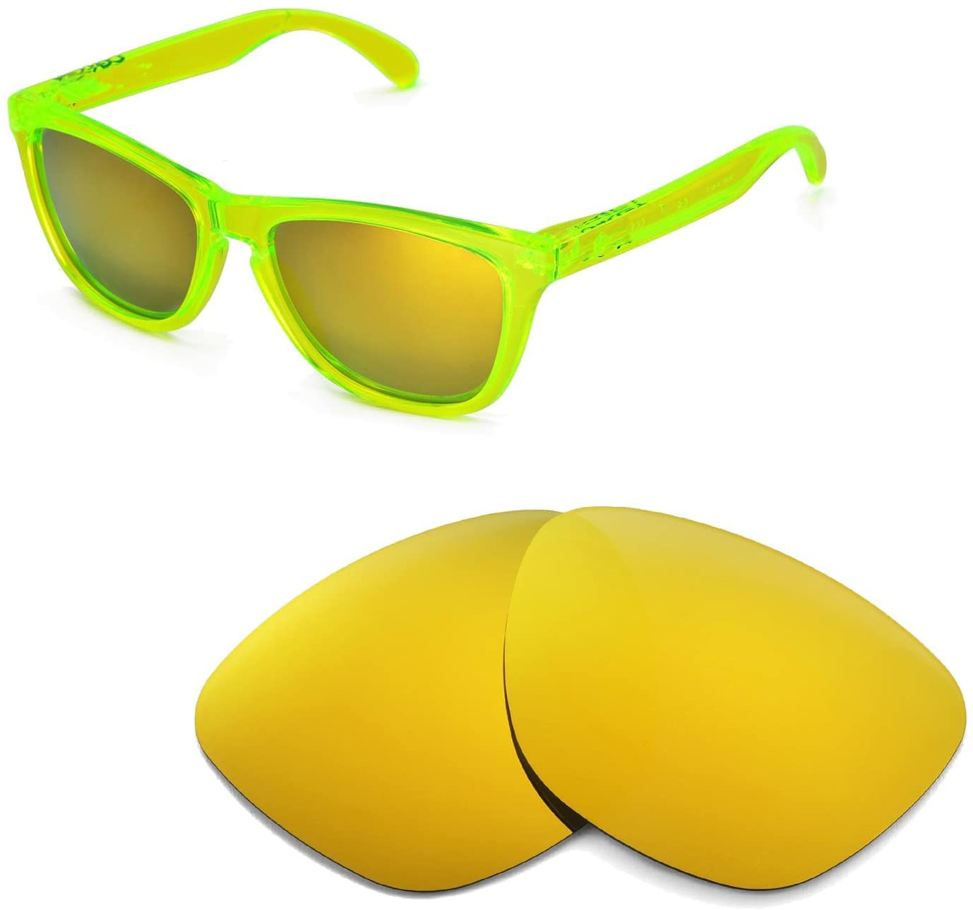 Walleva Replacement Lenses for Oakley Frogskins Sunglasses - 11 Options Available