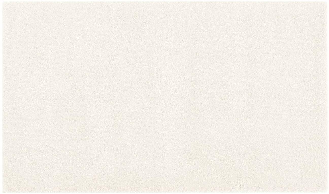 MADISON PARK SIGNATURE Marshmallow Bathroom Rug Non Slip, Luxrurious Plush Mat, Absorbent, Quick Dry, Spa Design Bath Room Décor, 24x40, Ivory