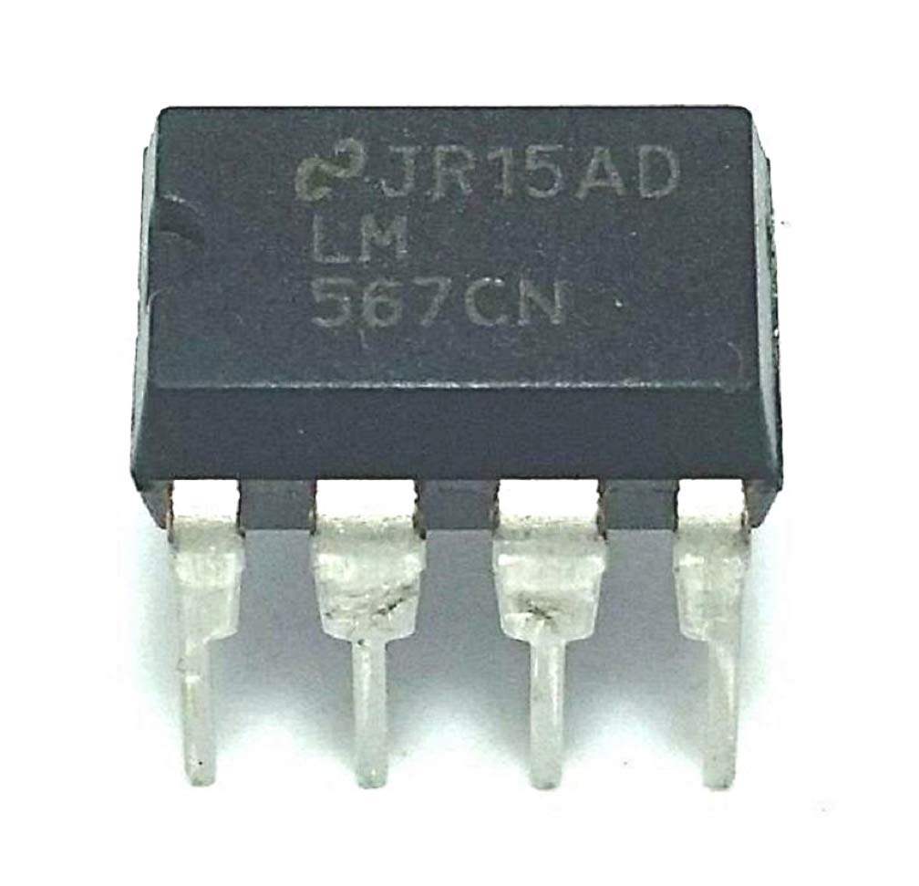 Juried Engineering National Semiconductor LM567CN/NOPB LM567CN LM567 Tone Decoder IC DIP-8 Breadboard-Friendly (Pack of 4)