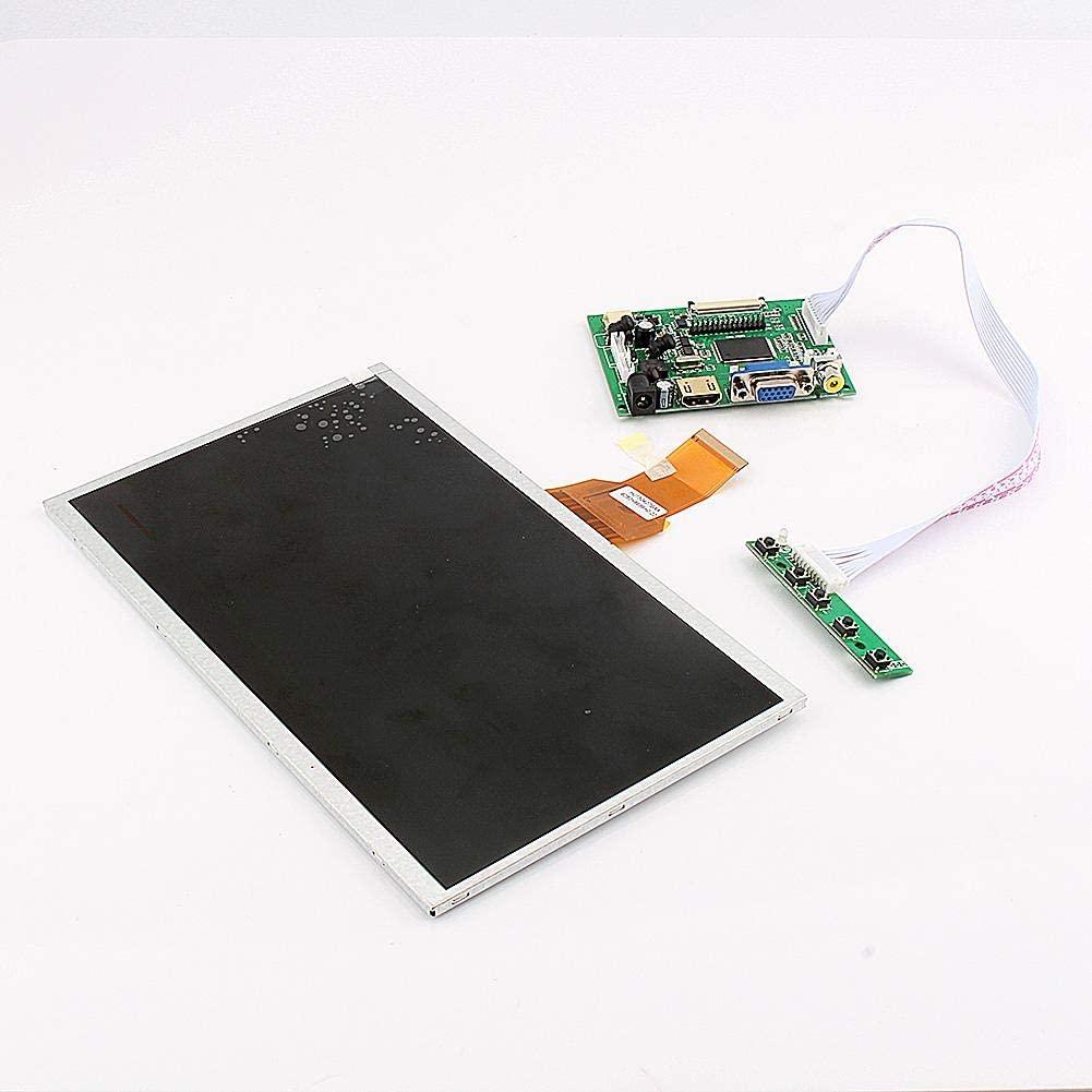 POCREATION Raspberry Display, Control HDMI+VGA+Video Driver Board for Raspberry Pi 10.1