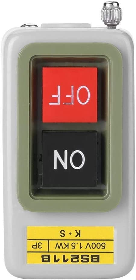 Maxmartt Self-Locking 3P On/Off Power Push Button Switch AC 220V/380V BS211B