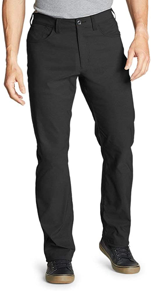 Eddie Bauer Men's Horizon Guide Five-Pocket Pants - Straight Fit, Black Regular