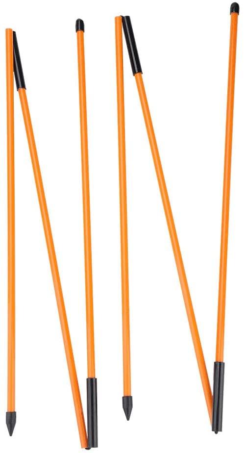 Qiilu Folding Golf Training Stick Rod,Training Aid Alignment Sticks for Practice, Fiberglass Swing Alignment Rods, Putt Alignment Practice Tool
