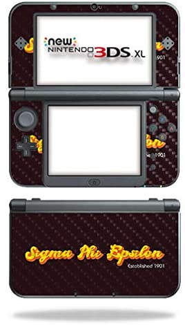 MightySkins Carbon Fiber Skin for Nintendo New 3DS XL (2015) - Sigma Pi Epsilon Funky 70's | Protective, Durable Textured Carbon Fiber Finish | Easy to Apply | Made in The USA