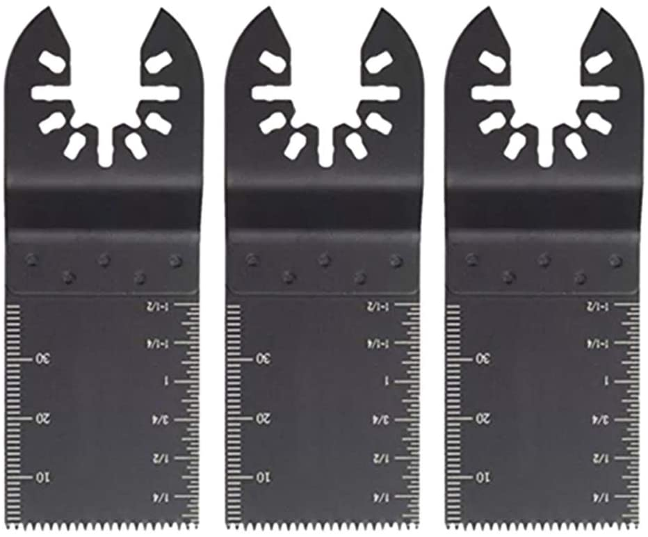 Wood Oscillating Saw Blades 34mm, Multi Tool Quick Release Compatible with DeWALT Milwaukee Makita Ryobi Ridgid Porter-Cable and more (3PCS)