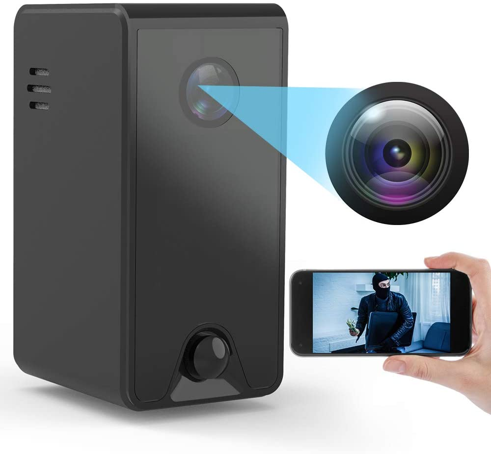 WiFi Camera with Stronger Night Vision,Working Standby Up to 180 Days, 1080P Video with PIR Motion Detection Alert, 2-Way Audio, Via Smartphone App for Room, Office or Shop