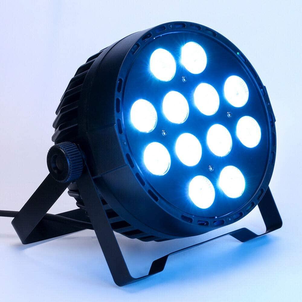 KDHARMR 12 LED Stage Wash Light RGBW PAR64 8CH Lighting DMX512 DJ Party Stage Washer Lighting 120W(US Stock)