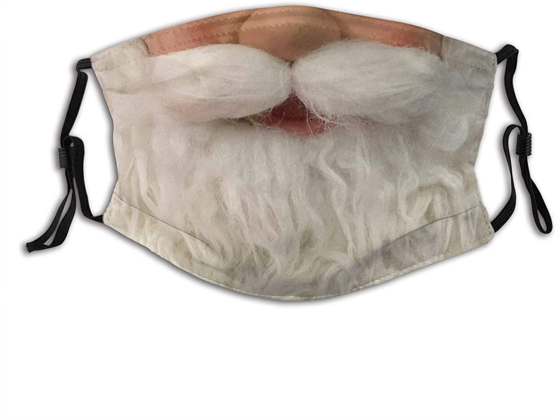 Funny Santa Face Santa Claus Beard Mask Neckerchief Half Face Mask Funny Mask Merry Christmas Mask Reusable
