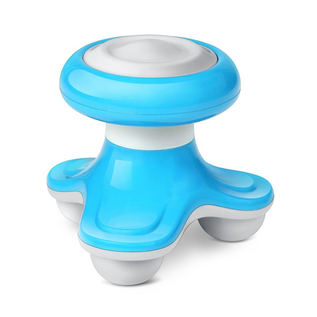 Mini Massager Tripod Shape Electric Portable Hand Held with Vibrating Function for Back, Neck & Body Massager (Blue)