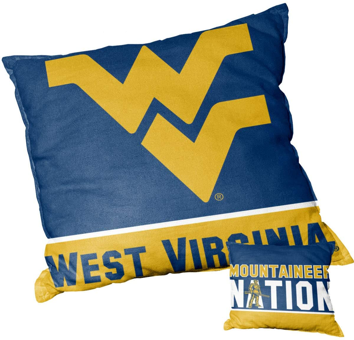 College Flags & Banners Co. West Virginia Mountaineers Mountaineer Nation Logo Pillow
