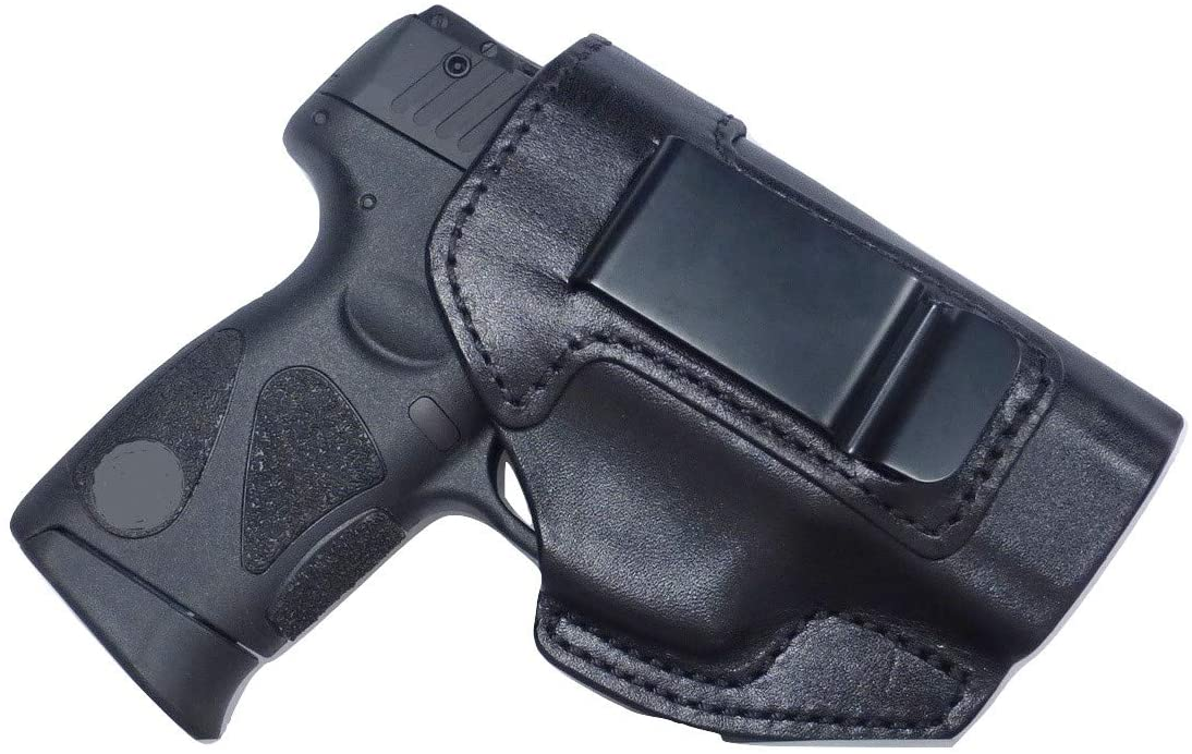 Tactical Scorpion Gear Full Grain Leather IWB Conceal Carry Gun Holster fits: Smith & Wesson S&W M&P Shield