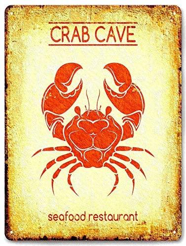 Sea Food Restaurant Crab Lover Tin Metal Aluminum Wall Sign Plate 12