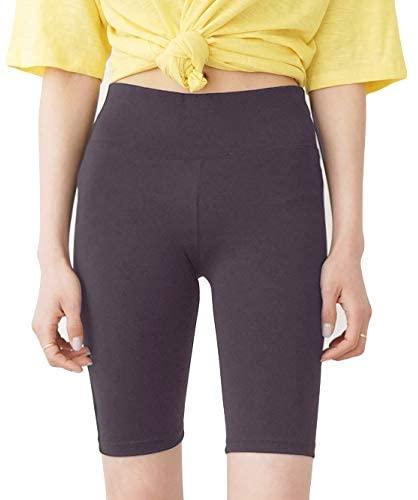 Joy Apparel Mid Length Bike Shorts Cycling Active Yoga (Black)