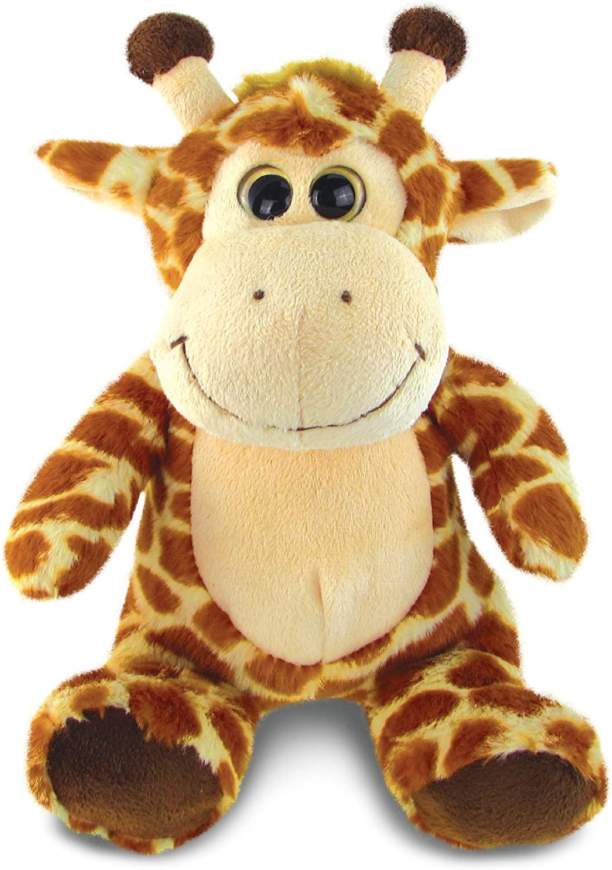 DolliBu Plush Giraffe Stuffed Animal - Soft Fur Huggable Giraffe, Adorable Playtime Zoo Giraffe Plush, Cute Wildlife Safari Cuddle Gifts, Super Soft Plush Doll Animal Toy for Kids & Adults - 9 Inch