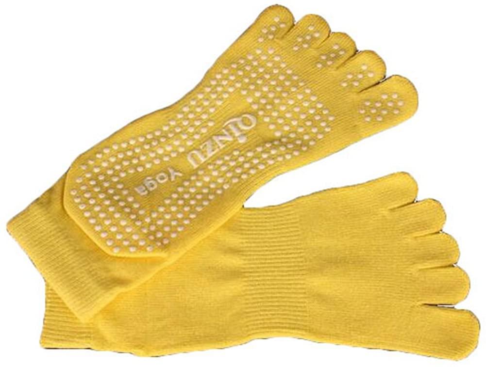 PANDA SUPERSTORE Slip Yoga Toe Socks - Toe Socks Ladies Thick Socks Yoga-Yellow