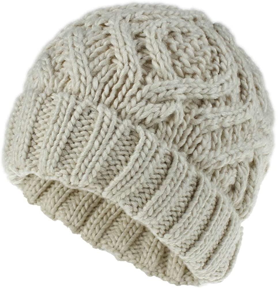 Obosoyo Winter Hats Women Knitted Ski Hat Thick Warm Beanie Skull Cap for Girls Chunky Hat
