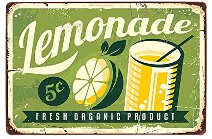 nonbrand Fresh Orange Product Lemonade Metal Tin Sign Novelty Bar Pub Home Vintage Retro 12x8 inch