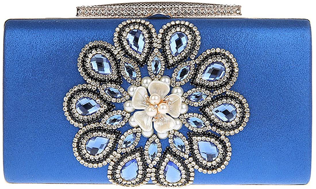 KAXIDY Handbags Flowers Evening Clutch Bags Sequin Wedding Bridal Prom Party Purse Clutches Bags