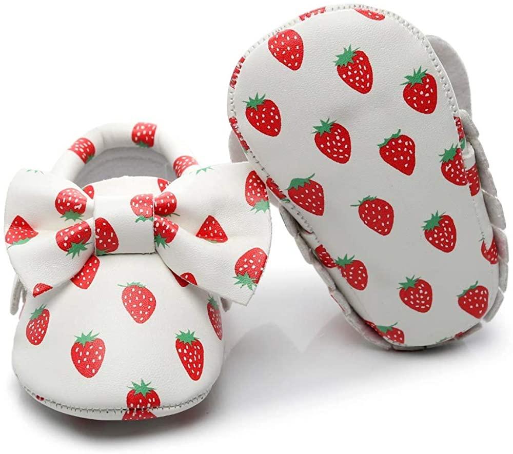 Bebila TasselBowknots Floral Baby Moccasins - Baby Boys Girls Soft Soled Toddler Shoes